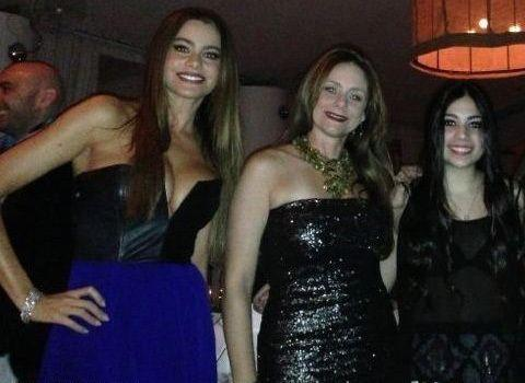Sofia with friends on New Year's Eve in <i>that</i> dress. Credit: Sofia Vergara/Whosay