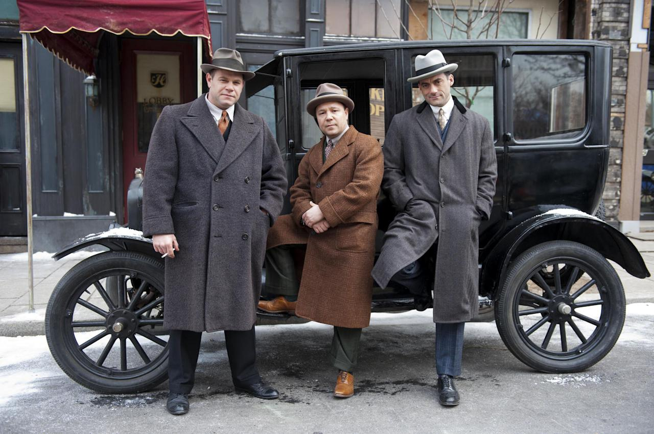 Domenick Lombardozzi as Ralph Capone, Stephen Graham as Al Capone, Morgan Spector as Frank Capone