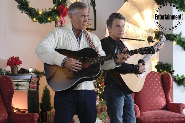 """<p><strong>Premieres: </strong>Nov. 13 at 10 p.m. ET/PT, Hallmark Movies & Mysteries</p> <p><strong>Stars: </strong>Peter Gallagher, Bruce Campbell, Eloise Mumford, Brett Dalton</p> <p><strong>Contains: </strong>Rival music managers, rock-star dads</p> <p><strong>Official description: </strong>""""Two music managers must put their history aside to oversee the televised reunion performance of their rock star fathers with a fractured past.""""</p>"""