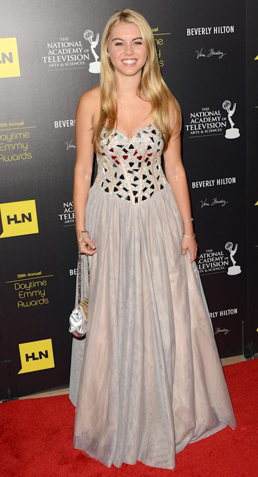 Lindsay Bushman arrives at The 39th Annual Daytime Emmy Awards held at The Beverly Hilton Hotel on June 23, 2012 in Beverly Hills, California.