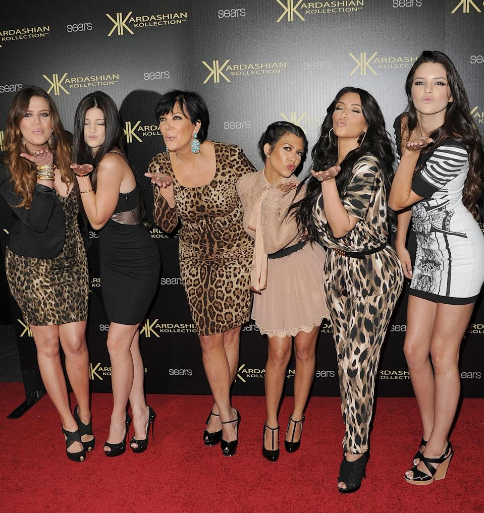 <p>Like we said earlier, the family sure loves cheetah-print and that's one thing that didn't change for a while. Even momager Kris Jenner matched her daughters on the red carpet. </p>