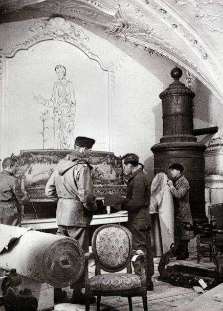 PHOTO: Monuments Men rescue art from Buxheim Monastery, Bavaria, 1945. (Archives of American Art, Smithsonian Institution)
