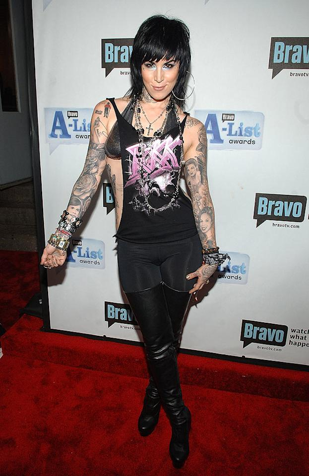 "Tattoo artist and star of ""L.A. Ink,"" Kat Von D, looks ready to rock! Jamie McCarthy/<a href=""http://www.wireimage.com"" target=""new"">WireImage.com</a> - June 4, 2008"