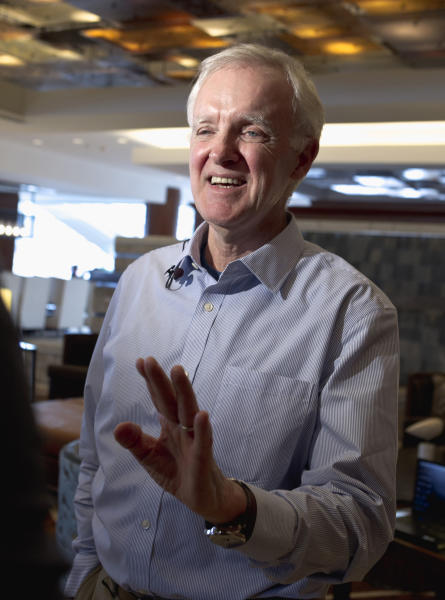 "In this photo taken Feb. 29, 2012, former Sen. Bob Kerrey speaks in Omaha, Neb., where he announced he would be seeking the Democratic nomination for the Nebraska seat he once held. The one-time decorated Navy Seal, Nebraska governor and two-term senator, who left Washington in January 2001, is undeterred about coming back to a fiercely divided Washington. ""But you tend to be more optimistic about being able to get something done about it when you're on the outside rather than on the inside. ... When you're out, there's a tendency to believe _ and I do _ that you can make a difference,"" he said. (AP Photo/Nati Harnik, File)"
