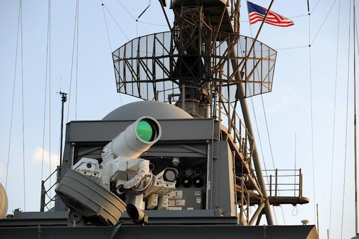 Unlike conventional canons that need shells, laser canons are limited only by the amount of electricity that can be generated (AFP Photo/John F. Williams)