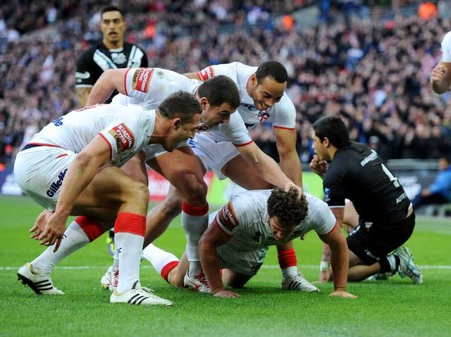 Key England duo Sean O'Loughlin, bottom, and Sam Burgess, left, were unavailable for the Lions (Anna Gowthorpe/PA)