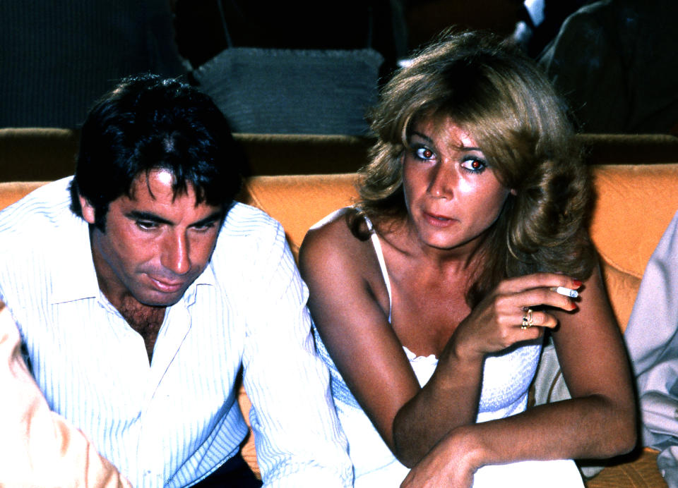 Spanish tennis player Manolo Santana with his wife Mila Ximenez, Madrid, Spain,1979. (Photo by Gianni Ferrari/Cover/GettyImages)