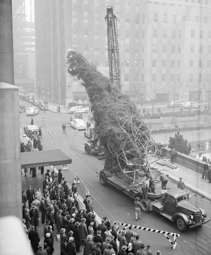 Rockefeller Center Christmas tree 1946 vintage