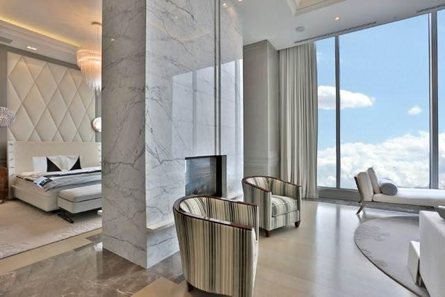"<p>The priciest home in Toronto isn't even a house — it's this penthouse suite atop the Four Seasons Private Residences, with four bedrooms, two bathrooms, a wine cellar, a library, a home theatre and an enviable address. (<a href=""http://www.christiesrealestate.com/eng/sales/detail/170-l-78202-f1704251041700003/-ph-50-yorkville-avenue-toronto-toronto-on"" rel=""nofollow noopener"" target=""_blank"" data-ylk=""slk:Christies"" class=""link rapid-noclick-resp"">Christies</a>) </p>"