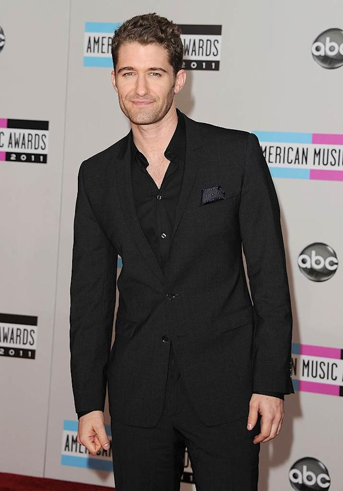 """Glee"" star Matthew Morrison arrives at the 2011 American Music Awards held at the Nokia Theatre L.A. LIVE (11/20/2011)"
