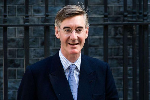 PHOTO: Lord President of the Council and Leader of the House of Commons Jacob Rees-Mogg leaves 10 Downing Street after Boris Johnson's first cabinet meeting as Prime Minister on 25 July, 2019 in London, England. (Wiktor Szymanowicz/Barcroft Media via Getty Images)