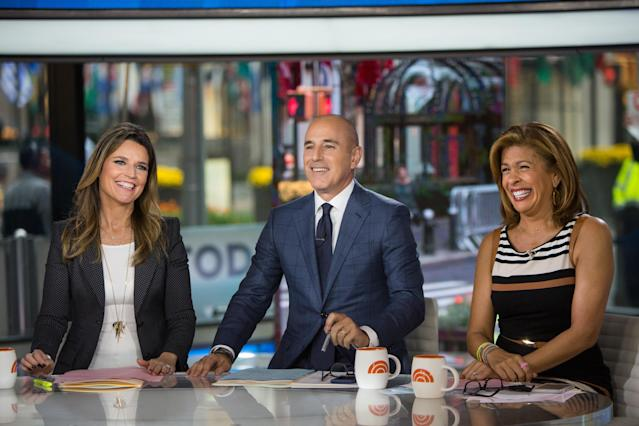 Savannah Guthrie and Hoda Kotb each make $18 million less than the disgraced Matt Lauer for the same <em>Today</em> anchor job. (Photo: Getty Images)