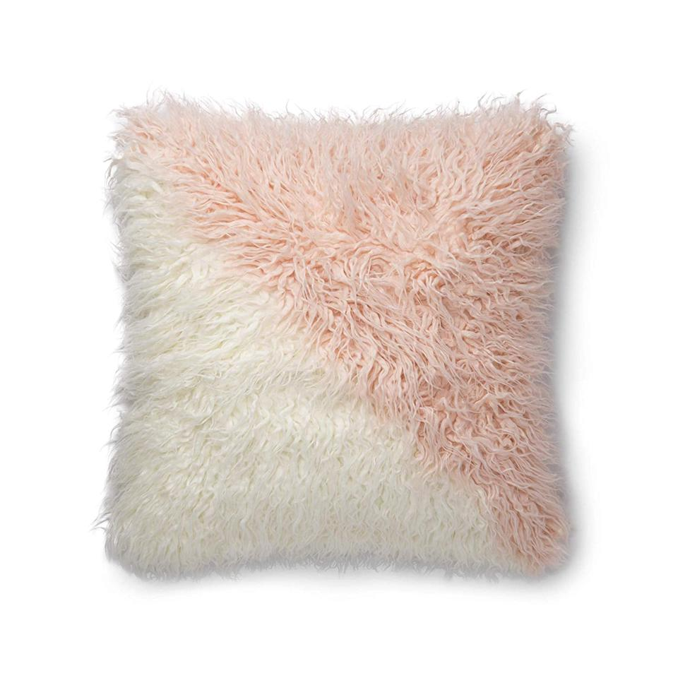 "<p>Add some texture to your sofa with this <a rel=""nofollow"" href=""https://www.popsugar.com/buy/Now%20House%20by%20Jonathan%20Adler%20Faux%20Mongolian%20Fur%20Pillow-401603?p_name=Now%20House%20by%20Jonathan%20Adler%20Faux%20Mongolian%20Fur%20Pillow&retailer=amazon.com&price=48&evar1=casa%3Aus&evar9=46013076&evar98=https%3A%2F%2Fwww.popsugar.com%2Fhome%2Fphoto-gallery%2F46013076%2Fimage%2F46013138%2FNow-House-Jonathan-Adler-Faux-Mongolian-Fur-Pillow&prop13=api&pdata=1"" rel=""nofollow"">Now House by Jonathan Adler Faux Mongolian Fur Pillow</a> ($48).</p>"
