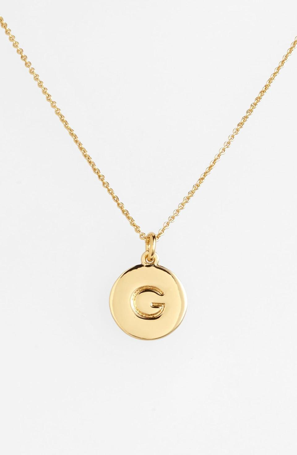 """<br> <br> <strong>Kate Spade</strong> One In A Million Initial Pendant Necklace, $, available at <a href=""""https://go.skimresources.com/?id=30283X879131&url=https%3A%2F%2Fshop.nordstrom.com%2Fs%2Fkate-spade-new-york-one-in-a-million-initial-pendant-necklace%2F3628637"""" rel=""""nofollow noopener"""" target=""""_blank"""" data-ylk=""""slk:Nordstrom"""" class=""""link rapid-noclick-resp"""">Nordstrom</a>"""