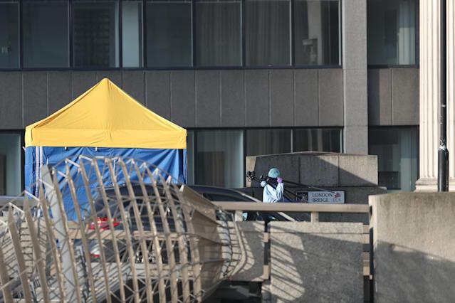 Investigations were underway on Saturday following the rampage on Friday afternoon that left two people dead (Picture: PA)