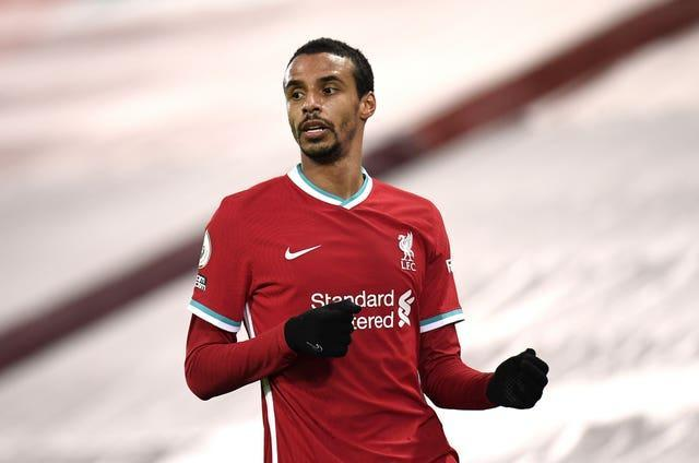 Liverpool defender Joel Matip in action