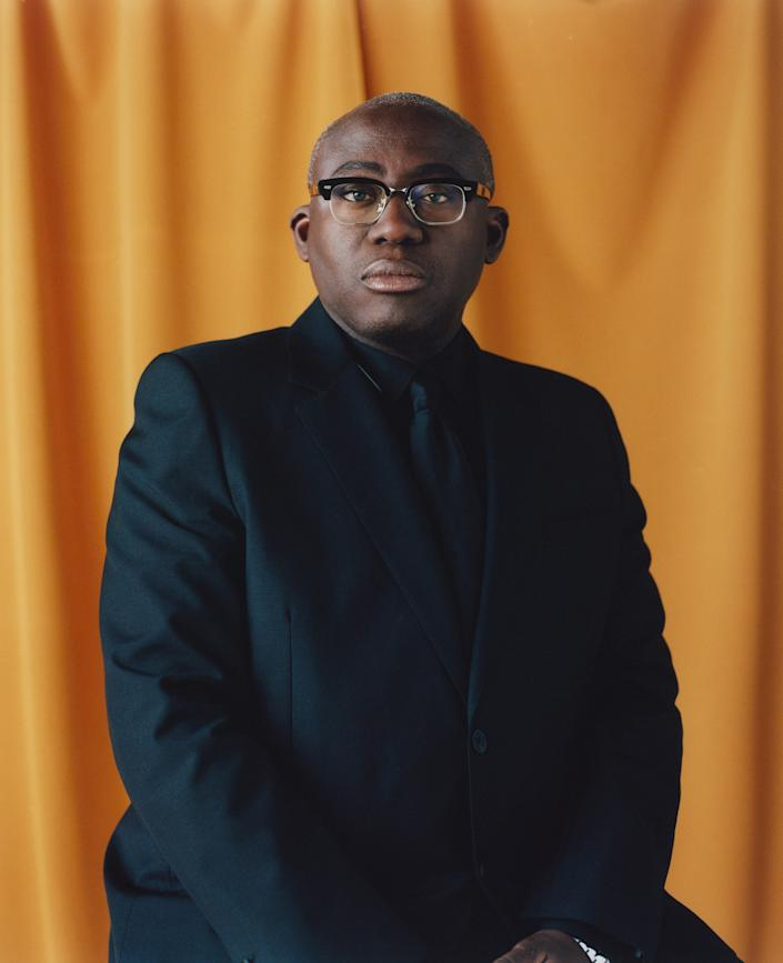 """British Vogue editor in chief Enninful in Ladbroke Grove, London, on Aug. 31.<span class=""""copyright"""">Campbell Addy for TIME</span>"""