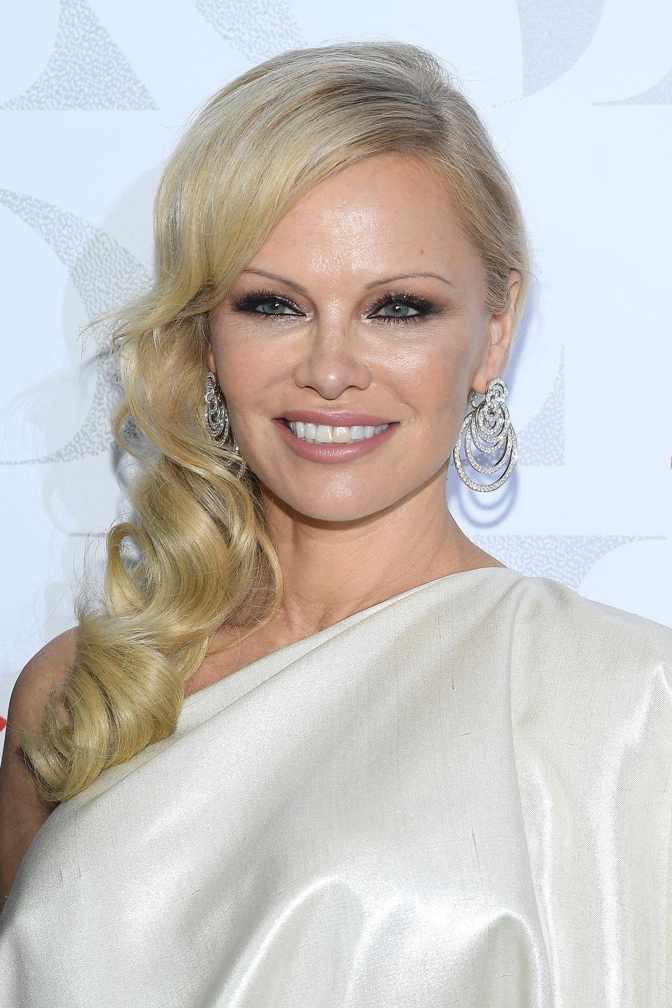 "<p>Pamela Anderson doesn't necessarily regret getting breast implants, but she didn't like how big they were. In 1999, the <em>Baywatch </em>star had them re-augmented to a smaller size. ""I just didn't feel like it looked very good,"" <a href=""https://nypost.com/1999/04/17/pam-my-implant-went-bust/"" rel=""nofollow noopener"" target=""_blank"" data-ylk=""slk:she said at the time"" class=""link rapid-noclick-resp"">she said at the time</a>. ""I was really kind of being self-conscious of it.""</p>"