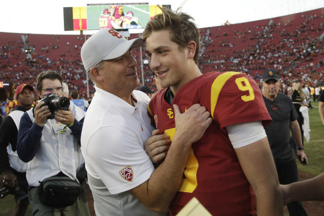 USC is one of the favorites to win the Pac-12 in 2020. (AP Photo/Marcio Jose Sanchez, File)