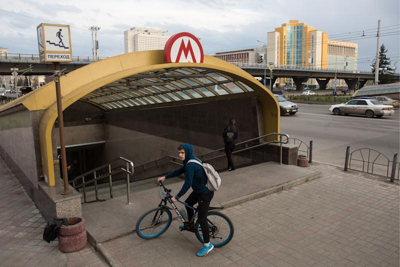 OMSK, RUSSIA - MAY 14, 2018: A view of a pedestrian underpass to Biblioteka Imeni Pushkina station, the only one opened at the Omsk Metro since the construction started in 1992; now the Omsk Region government has decided to suspend the project. Dmitry Feoktistov/TASS (Photo by Dmitry Feoktistov\TASS via Getty Images)