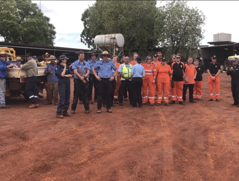 The crew which helped find Matilada during a challenging search over nearly 24 hours. Source: WA Police Force