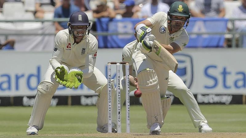 South Africa's Dean Elgar has helped the hosts to 3-141 on day two of the second Test with England