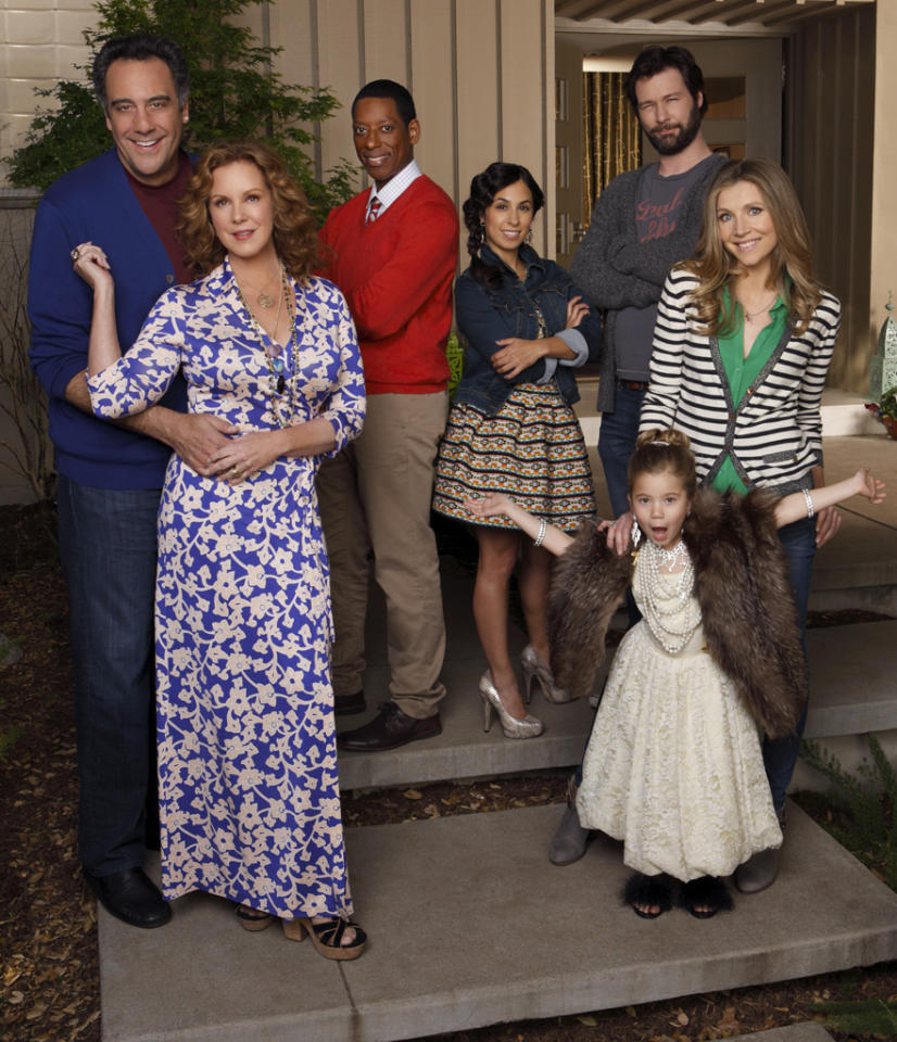 """<b>""""How to Live with Your Parents (For the Rest of Your Life)"""" (Fall Comedy)</b><br><br>Polly (Sarah Chalke) is a single mom who's been divorced for almost a year. The transition wasn't easy for her, especially in this economy. So, like a lot of young people living in this new reality, she and her daughter, Natalie (Rachel Eggleston), have moved back home with her eccentric parents, Elaine (Elizabeth Perkins) and Max (Brad Garrett). But Polly and her parents look at life through two different lenses. Polly's too uptight. Her parents are too laid back. Polly's conservative when it comes to dating (no action, whatsoever), while her parents are still sexually adventurous. They think Polly turned out okay, so what's the big deal? Well, they say it takes a village to raise a child...and in Polly's case, this village is on fire. But with help from her best friend Gregg (Orlando Jones), her lovable yet irresponsible ex-husband Julian (Jon Dore) and her cool and fun assistant Jenn (Rebecca Delgado Smith) Polly takes her first steps toward getting a life, starting with a social one."""