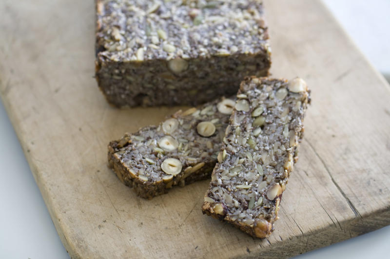 This Sept. 8, 2013 photo shows a super seed loaf in Concord, N.H. (AP Photo/Matthew Mead)