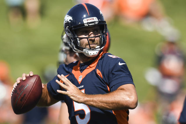 Now with a new team for the first time in his career, Joe Flacco is ready to prove himself in Denver — and thinks he has a lot left in the tank. (Aaron Ontiveroz/The Denver Post via Getty Images)