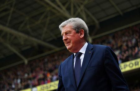 Soccer Football - Premier League - Crystal Palace vs Brighton & Hove Albion - Selhurst Park, London, Britain - April 14, 2018 Crystal Palace manager Roy Hodgson REUTERS/Dylan Martinez