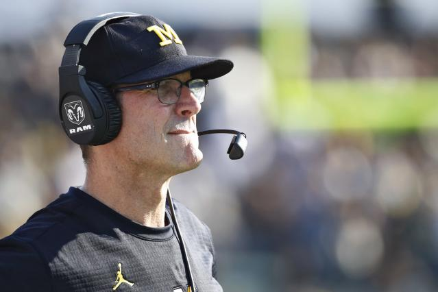 Jim Harbaugh believes visiting locker rooms should meet certain standards. (Photo by Joe Robbins/Getty Images)