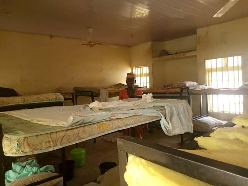 The deserted school dormitory after bandits invaded and took away over 300 schoolgirls in Jangebe in February (AFP via Getty Images)