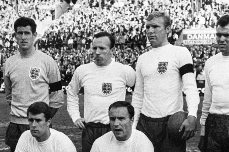 Nobby Stiles (back row, second left) pictured in 1966