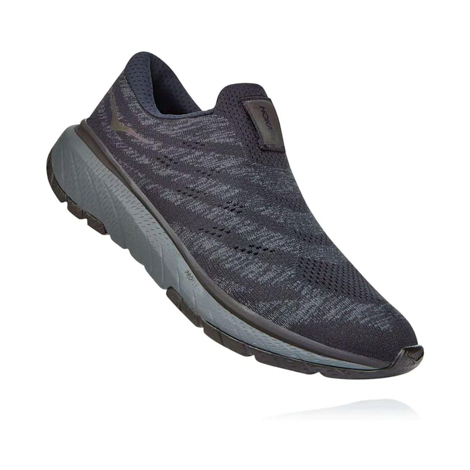 """<p><strong>HOKA</strong></p><p>hokaoneone.com</p><p><a href=""""https://go.redirectingat.com?id=74968X1596630&url=https%3A%2F%2Fwww.hokaoneone.com%2Fsale%2Fcavu-3-slip%2F1106484.html&sref=https%3A%2F%2Fwww.menshealth.com%2Ftechnology-gear%2Fg36099041%2Fhoka-one-one-2021-sale%2F"""" rel=""""nofollow noopener"""" target=""""_blank"""" data-ylk=""""slk:BUY IT HERE"""" class=""""link rapid-noclick-resp"""">BUY IT HERE</a></p><p><strong><del>$120</del> <br>$94.99<br></strong>For the 23 hours of the day when you're not running, why not slide into a well-padded slipper? This laceless version of the Cavu 3 delivers everything you need for walking around town or even just doing yard work, to be honest.</p>"""