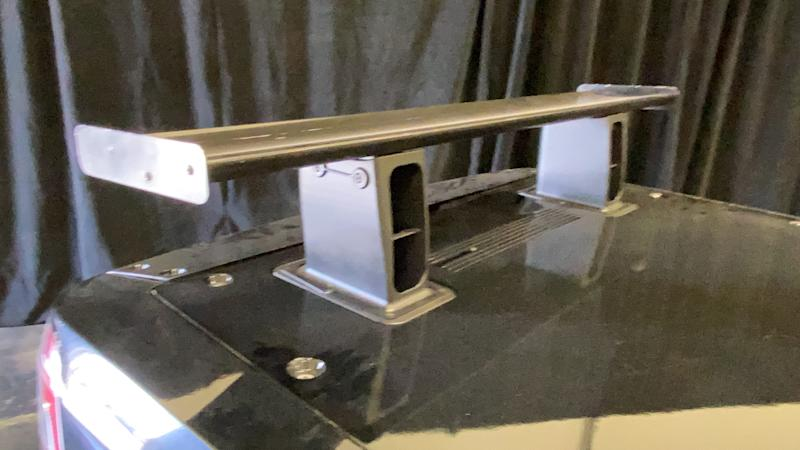 Stanchions supporting the Blackjack engineering mule hid intakes for cooling air.