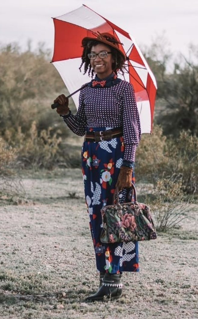 "<p>Nikial Robinson, who has an entire<a href=""https://www.instagram.com/costumehabit/"" rel=""nofollow noopener"" target=""_blank"" data-ylk=""slk:Instagram account devoted to her costume creations"" class=""link rapid-noclick-resp""> Instagram account devoted to her costume creations</a>, demonstrates that Mary Poppins is only a few patterned items away. First step? <a href=""https://www.amazon.com/Signare-Detachable-Sunflower-Dragonfly-Conv-MGDBK/dp/B01AWD1UL2?tag=syn-yahoo-20&ascsubtag=%5Bartid%7C10072.g.33224975%5Bsrc%7Cyahoo-us"" rel=""nofollow noopener"" target=""_blank"" data-ylk=""slk:Get a carpet bag"" class=""link rapid-noclick-resp"">Get a carpet bag</a>. </p><p><a class=""link rapid-noclick-resp"" href=""https://www.amazon.com/Signare-Detachable-Sunflower-Dragonfly-Conv-MGDBK/dp/B01AWD1UL2?tag=syn-yahoo-20&ascsubtag=%5Bartid%7C10072.g.33224975%5Bsrc%7Cyahoo-us"" rel=""nofollow noopener"" target=""_blank"" data-ylk=""slk:Shop Carpet Bags Here"">Shop Carpet Bags Here</a></p>"