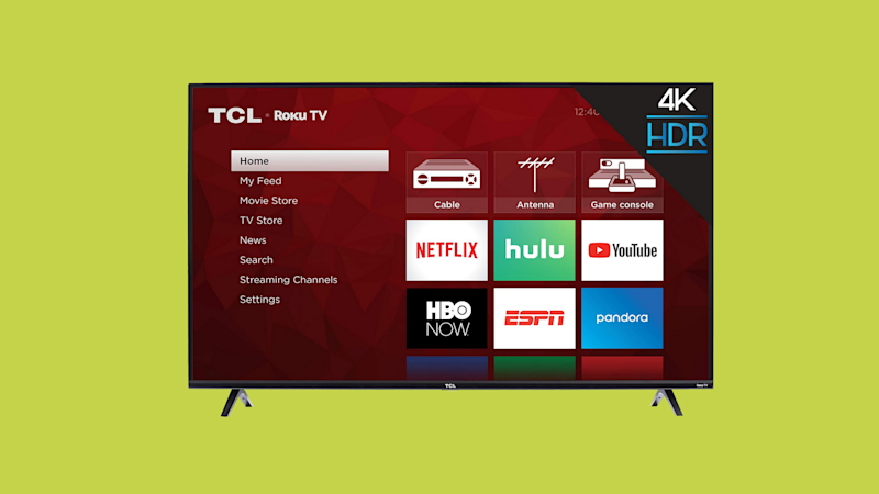 TCL 43-inch TV on green background. (Photo: Walmart)