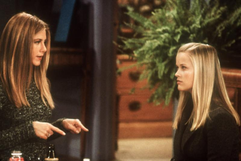 FRIENDS, Jennifer Aniston, Reese Witherspoon, 1994-present, 'One With Rachel's Sister,' 1999-2000 season, yr6, February 3, 2000