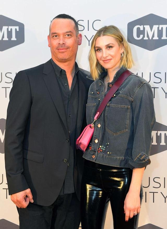 <em>Music City</em> creator Adam DiVello and <em>The Hills</em> star Whitney Port reunite at the premiere party for the Nashville show. (Photo: Mickey Bernal/WireImage)