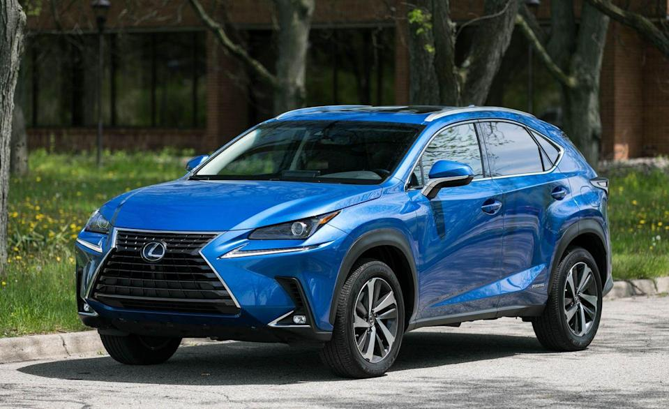"""<p>A new <a href=""""https://www.caranddriver.com/lexus/nx"""" rel=""""nofollow noopener"""" target=""""_blank"""" data-ylk=""""slk:Lexus NX"""" class=""""link rapid-noclick-resp"""">Lexus NX</a> is in the works for this year, but for now, the <a href=""""https://www.caranddriver.com/lexus/nx-2021"""" rel=""""nofollow noopener"""" target=""""_blank"""" data-ylk=""""slk:current NX"""" class=""""link rapid-noclick-resp"""">current NX</a> comes with a slew of standard safety features. Every NX comes with automated emergency braking with pedestrian detection, lane-departure warning with lane-keeping assist, and adaptive cruise control. Not only did the NX receive a Top Safety Pick+ award from the IIHS, it's also been given a five-star rating from NHTSA. Across all six IIHS crash tests, the NX returned Good ratings. A Superior rating was awarded for both vehicle-to-vehicle and vehicle-to-pedestrian crash prevention systems, and the NX avoided impact with the crossing child and crossing adult dummies in those four tests. </p><p><a class=""""link rapid-noclick-resp"""" href=""""https://www.caranddriver.com/lexus/nx"""" rel=""""nofollow noopener"""" target=""""_blank"""" data-ylk=""""slk:MORE NX INFO"""">MORE NX INFO</a></p>"""