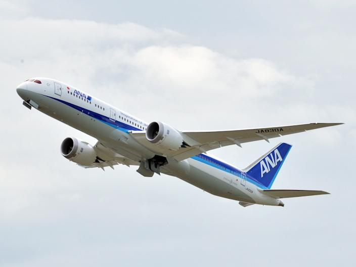 An All Nippon Airways Boeing 787-9 Dreamliner.