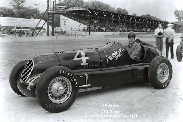 """A move to Cotton Henning's team in 1939 to drive the Boyle Special promised much and Horn qualified fourth but luck continued to elude him on race days. <span class=""""copyright"""">Indianapolis Motor Speedway</span>"""