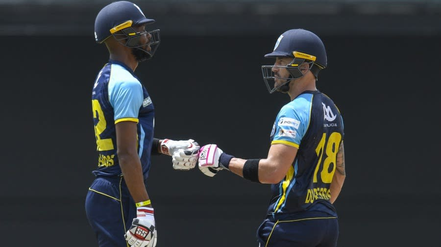Roston Chase and Faf du Plessis of Saint Lucia Kings, CPL 2021