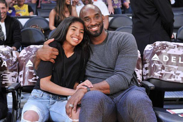 PHOTO: Kobe Bryant and his daughter Gianna Bryant attend a basketball game between the Los Angeles Lakers and the Atlanta Hawks, Nov. 17, 2019, in Los Angeles. (Allen Berezovsky/Getty Images)