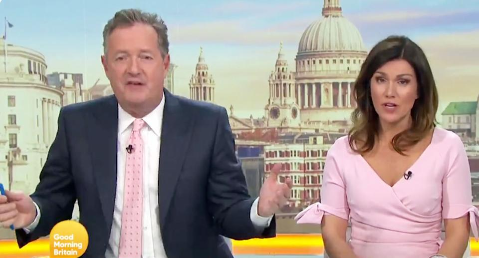 """Piers Morgan says the country has gone """"bonkers"""" over the GCSE maths debate. [Photo: Getty]"""