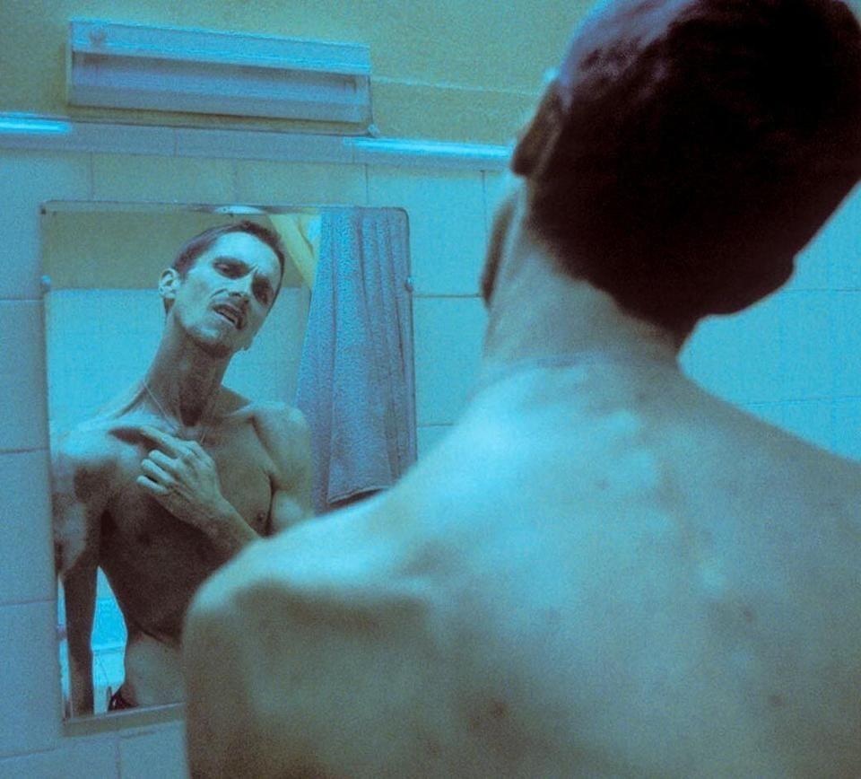 "The actor lost 60lbs thanks to a diet of ""coffee and apples"" for his role in 2004's The Machinist. (Photo: )"