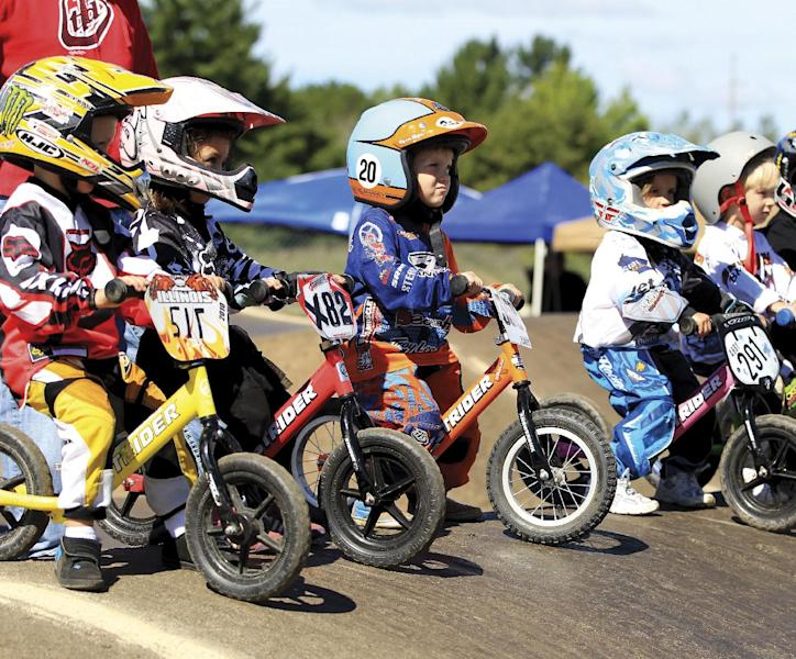 Balance bike racing for tots is catching on fast