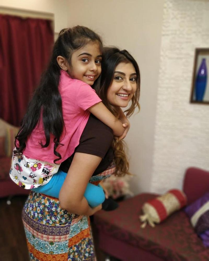 Juhi Parmar and her daughter Samairra