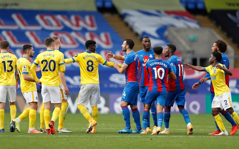 Zaha was to the fore in an ill-tempered afternoon - Getty