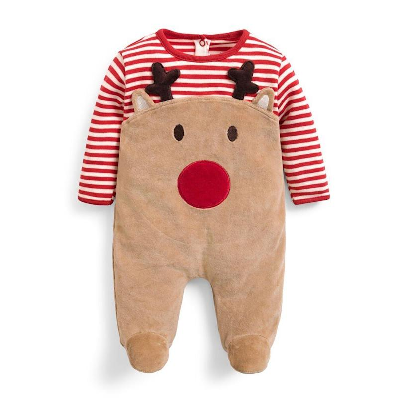 Red Reindeer Sleepsuit (Photo: JoJo Maman Bebe)